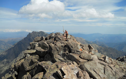 Corsica - on the top of Monte Cinto 2706m